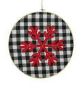 Maker\u0027s Holiday Christmas Hoop Wall Decor-Snowflake
