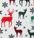 Christmas Cotton Fabric-Metallic Snowflakes
