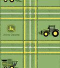 John Deere Cotton Fabric -Green Tractor & Plaid