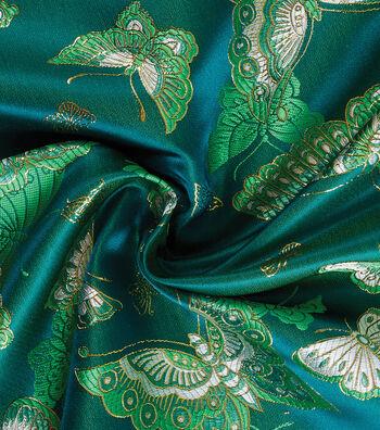 Yaya Han Cosplay Brocade Fabric 58''-Emerald Choo Butterfly