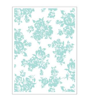 Park Lane A2 Embossing Folder-Rose Bouquet