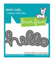 Lawn Fawn Lawn Cuts Custom Craft Die -Scripty Hello, , hi-res