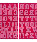 Jolee\u0027s Boutique 49 pk 1.5\u0027\u0027 Letters Iron-on Transfers-Fuchsia