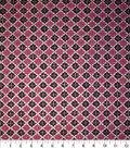 Premium Cotton Print Fabric 44\u0027\u0027-Pink & Black Packed Diamonds