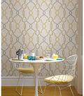 WallPops NuWallpaper Taupe/Yellow Sausalito Peel  & Stick Wallpaper