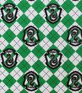 Harry Potter Flannel Fabric-Slytherin on Argyle