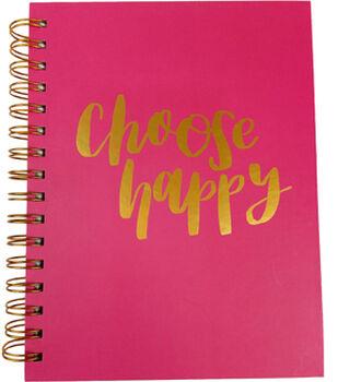 Park Lane 7.5''x9.5'' Spiral Notebook-Choose Happy