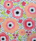 Snuggle Flannel Fabric 42\u0022-Mimosa Daisies