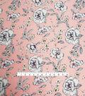 Smocked Dressing Rayon Fabric 53\u0027\u0027-Floral on Coral