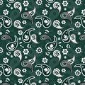 Michigan State University Cotton Fabric-Paisley