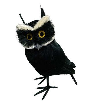 Maker's Halloween Small Owl Critter-Black & White