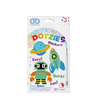 Diamond Dotz Dotzies 3 Stickers Multi Pack-Space