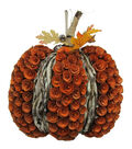 Blooming Autumn Wood Curl Pumpkin Wreath