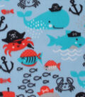 Blizzard Fleece Fabric 59\u0027\u0027-Pirate Sea Creatures