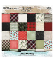 "Idea-Ology Paper Stash Double-Sided Paper Pad 8""X8"" 20/Pkg-Christmas, , hi-res"