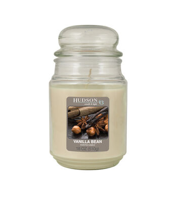 Hudson 43 Candle & Light Collection 18oz Value Jar Vanilla Bean