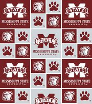 Mississippi State University Bulldogs Cotton Fabric -Block, , hi-res