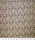 Premium Quilt Cotton Fabric-Diamond Vine Brown