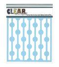 Clear Scraps 12\u0027\u0027x12\u0027\u0027 Plastic Stencil-Bulb Strings