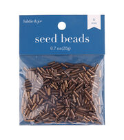 hildie & jo 6 mm Seed Beads-Brown Plated, , hi-res