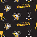 Pittsburgh Penguins Fleece Fabric -Tossed