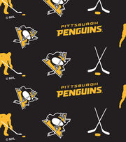 Pittsburgh Penguins Fleece Fabric -Tossed, , hi-res