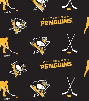Pittsburgh Penguins Fleece Fabric -Tossed