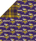 Minnesota Vikings Double Faced Quilt Fabric