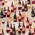Anti-Pill Plush Fleece Fabric-Wine