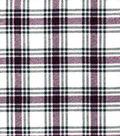 Snuggle Flannel Fabric 42\u0027\u0027-Hadley Burgundy & Gray Plaid