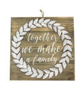 Simply Autumn Galvanized Wreath Wall Decor-Together We Make a Family
