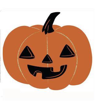Maker's Halloween Figural Jack-o'-lantern Pumpkin Tufted Coir Mat