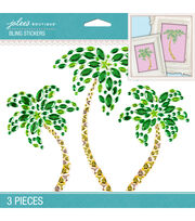 Jolee's Boutique 3 Pack 6.5''x5'' Palm Trees Bling Stickers, , hi-res