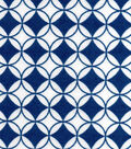 Snuggle Flannel Fabric -Dark Blue Diamond Circles