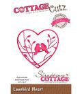 CottageCutz Elites Die-Lovebird Heart 2.4\u0022X2.2\u0022