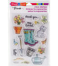 Stampendous Perfectly Clear Stamps 7.25\u0022X4.625\u0022-Garden Boots