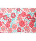 Blizzard Fleece Fabric -Coral Floral