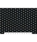 Snuggle Flannel Fabric -White Dots on Black