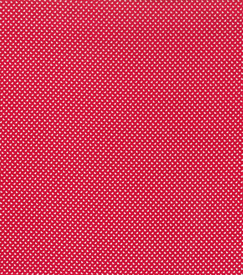 Valentine's Day Cotton Fabric-Tiny Hearts on Red