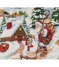 Christmas Cotton Fabric-Santa\u0027s Lodge
