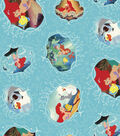 Disney Ariel Cotton Fabric -Movie Posters