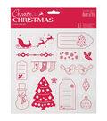 Papermania Create Christmas Clear Stamps 8\u0022X8\u0022-Merry Christmas