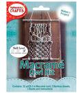 Pepperell Crafts Mini Macramé Natural Owl Kit