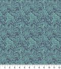 Keepsake Calico Cotton Fabric 44\u0027\u0027-Teal Nadelle