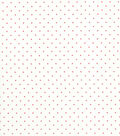 Quilter\u0027s Showcase Cotton Fabric -Coral Swiss Dots on Sugar