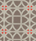 P/K Lifestyles Lightweight Decor Fabric 54\u0022-Lamerie Lattice/Persimmon