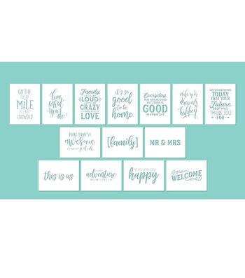 Hampton Art 12X16 Stencils-Phrases