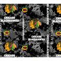 Chicago Blackhawks Fleece Fabric-Digital Camo