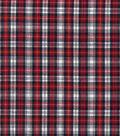 Homespun Cotton Fabric 44\u0022-Blue & Red Crosshatch