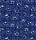 Penn State University Nittany Lions Cotton Fabric -Distressed
